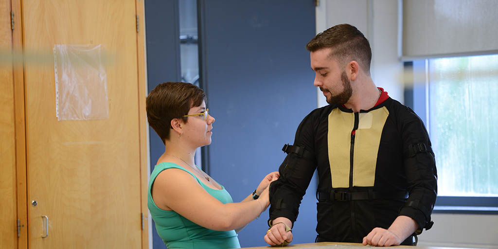 Fanshawe collaborates on motion capture suit and arm sleeve for Parkinson's patients