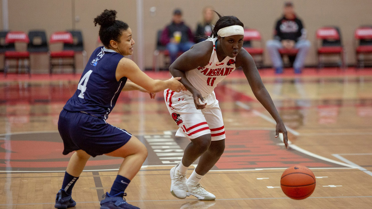 Chuot Angou first Falcon to receive CCAA women's basketball player of the year honour