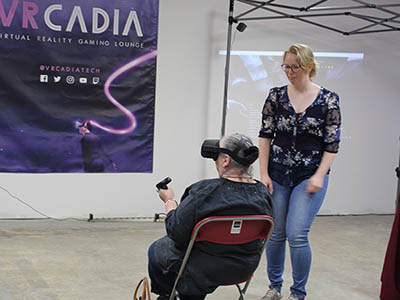 VRcadia hosts virtual reality event for seniors photos